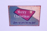 Merry Christmas Sign 13.75 x 10.5